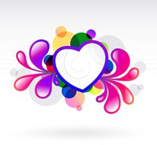 Abstract With Heart Royalty Free Stock Photos