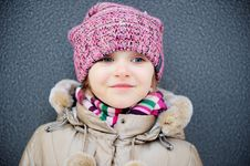 Free Portrait Of Child Girl In Warm Autumn Clothes Royalty Free Stock Photos - 20602958