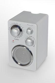 Free Radio On White Left Royalty Free Stock Images - 20603189