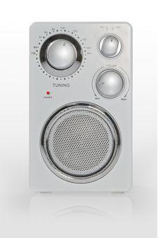 Free Radio On White Stock Image - 20603191