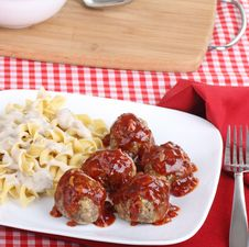 Free Meatball Meal Royalty Free Stock Photo - 20603225
