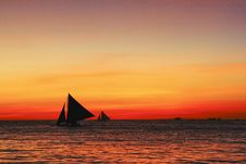 Free Sailing At Sunset Royalty Free Stock Photos - 20603308