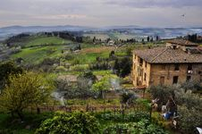Free Tuscany Landscape Royalty Free Stock Photos - 20603528