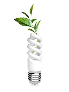 Free 3d Energy Saving Lamp Royalty Free Stock Images - 20603799