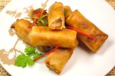Free Shrimp Spring Rolls Royalty Free Stock Photos - 20603998