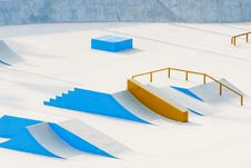 Free Skateboard Ramps Royalty Free Stock Images - 20604129