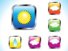 Free Abstract Weather Button Icon Stock Photography - 20604522