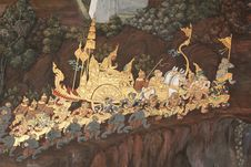 Free Thai Mural Art Stock Photography - 20605242
