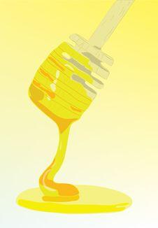 Spoon With Tasty Juicy Honey. Stock Image