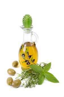 Free Oil And Herbs Royalty Free Stock Photos - 20606338