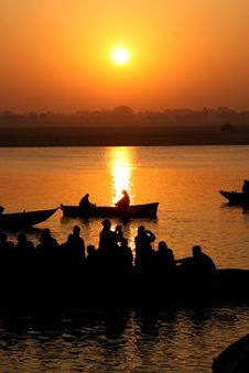 Free Tourist Boats On The Ganges Royalty Free Stock Photos - 20606428