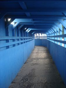 Free Construction Tunnel Made Of Blue Wood Royalty Free Stock Photography - 20606677