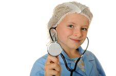 Free Girl Dreaming To Become Doctor Stock Photos - 20606833