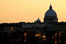 Rome: Vatican City: St. Peter S Basilica Royalty Free Stock Photos