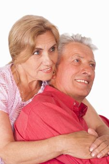 Free Old Couple On White Royalty Free Stock Photo - 20607525