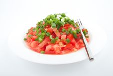 Free Tomato Salad With Spring Onion Royalty Free Stock Images - 20607569