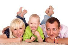 Free Family On A Carpet Royalty Free Stock Photos - 20607578
