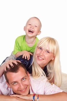Free Family On Carpet Stock Image - 20607581