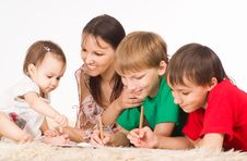 Free Nice Family Drawing Royalty Free Stock Photo - 20607595