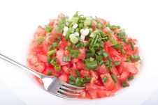 Free Tomato Salad With Spring Onion Stock Photo - 20607760