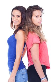Two Women Standing Stock Photos