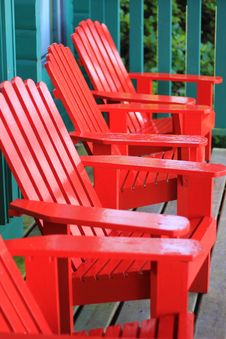Free Red Adenak Chairs Royalty Free Stock Photo - 20607895