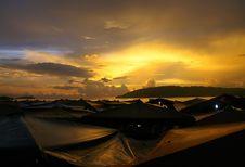 Free Sunset At Fish Market Stock Image - 20608551