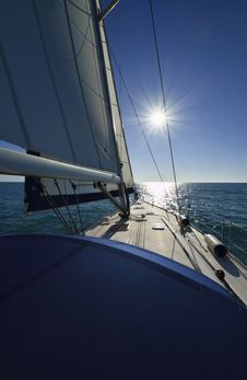 Free Cruising On A Sailing Boat Royalty Free Stock Photo - 20608555