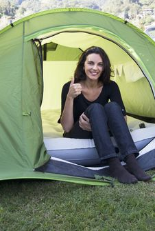 Free Woman Camping Royalty Free Stock Images - 20608569