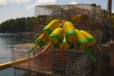 Free Lobster Buoys  And Traps Stock Images - 20608714