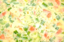 Free Spring Onion And Tomato Omelet Royalty Free Stock Photos - 20608938