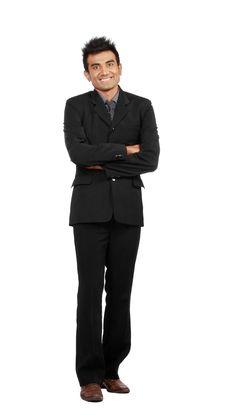 Smiling Business Man Royalty Free Stock Image