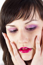 Free Young Woman Holding Her Face Royalty Free Stock Image - 20610566