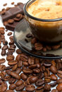 Free Cappuccino, Brown Sugar And Coffee Beans Royalty Free Stock Image - 20617416