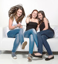 Free Chatting On The Couch Stock Photos - 20618383