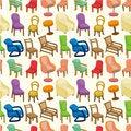 Free Chair Furniture Seamless Pattern Royalty Free Stock Image - 20619906
