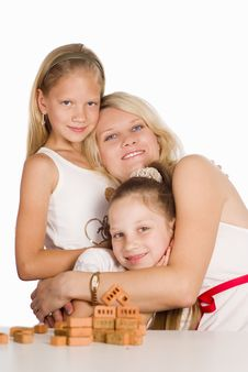 Free Mom Plays With Daughters Stock Photo - 20610240