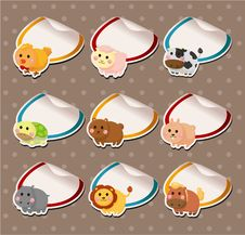 Free Cartoon Animal Card Royalty Free Stock Images - 20610489
