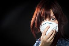 Free Girl Wearing Protective Mask Stock Images - 20610614