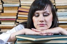 Free Student Girl With Her Books Royalty Free Stock Photos - 20610908
