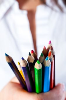 Free Colored Pencils Stock Photos - 20610953