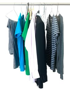 Free Hanging Garments Stock Photography - 20611882