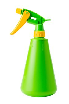 Green Spray Bottle, Isolated Stock Images