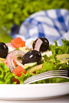 Free Healthy Greek Salad Royalty Free Stock Images - 20612689