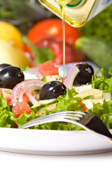 Free Healthy Greek Salad Royalty Free Stock Photos - 20612698