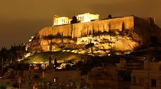 Free Athens At Night Royalty Free Stock Image - 20613096