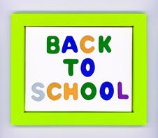 Free Green Paper Frame With Words Back To School Stock Photos - 20613293