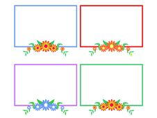 Flower Frames 2 Royalty Free Stock Images