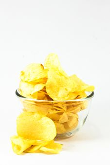 Free Potato Chips In A Bowl Royalty Free Stock Photo - 20613975