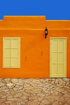 Free Dressing In Orange / Orange Greek House In Hungary Stock Photos - 20613983
